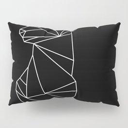 Geometric Doe (White on Black) Pillow Sham