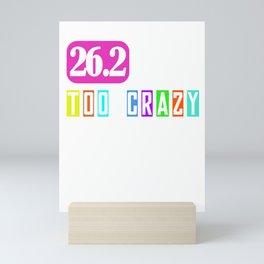 26.2 Marathon Running I Gift Idea for Marathoner Mini Art Print