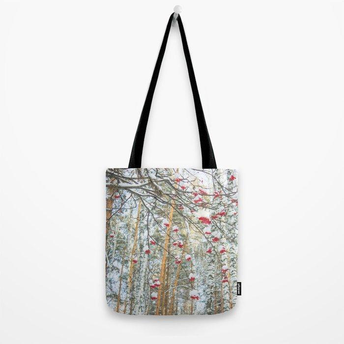 Winter Rowan and birchs Tote Bag