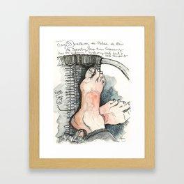 Camino de Santiago - Pilgrim Feet Framed Art Print