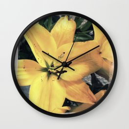 Yellow Lily #1 Wall Clock
