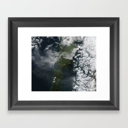 Volcano Chile Aerial Landscape Photography Framed Art Print