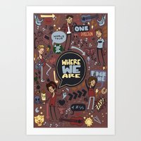 cargline Art Prints featuring WWA Poster by cargline
