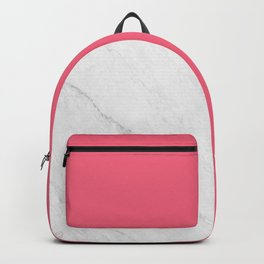 Marble And Pink Backpack