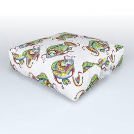 Something Fishy Tattoo Outdoor Floor Cushion