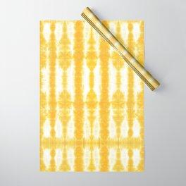 Yellow Tiki Shibori Wrapping Paper