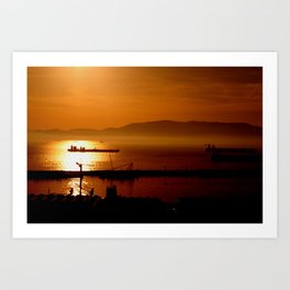 Gibraltar sunset Art Print