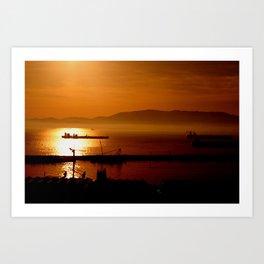Gibraltar sunset Art Print