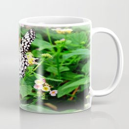 The Common Mime Butterfly on flowers Coffee Mug