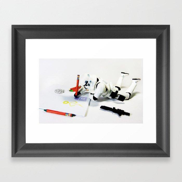 Drawing Droids Framed Art Print