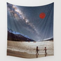 planet Wall Tapestries featuring Red Planet by Blaz Rojs