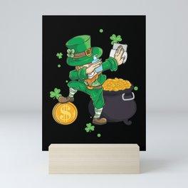 St. Patricks Day 2021 Leprechaun Irish Shamrock Clover Gift Mini Art Print