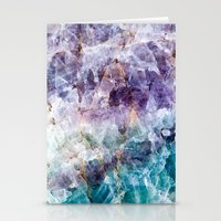 crystals Stationery Cards featuring crystals  by lokyic