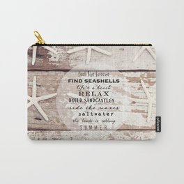 starfish on wood Carry-All Pouch