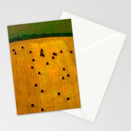Hay Field Stationery Cards