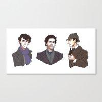 sherlock holmes Canvas Prints featuring Sherlock Holmes by xephia