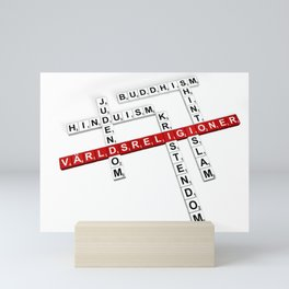 World's Religions (In Swedish) Mini Art Print