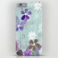 Summer blossom, blue and purple Slim Case iPhone 6s Plus