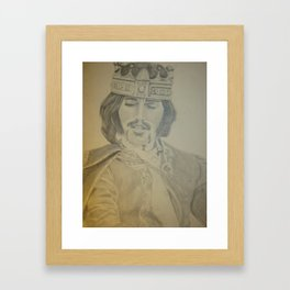 King Sketch Framed Art Print
