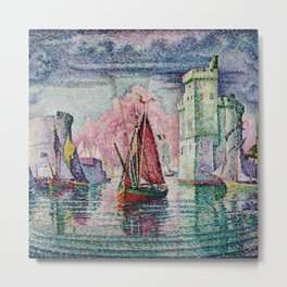 Classical Masterpiece 'The Port Of La Rochelle, Bay of Biscay, France' by Paul Signac Metal Print