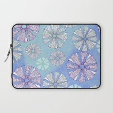 sea urchin blue watercolor Laptop Sleeve