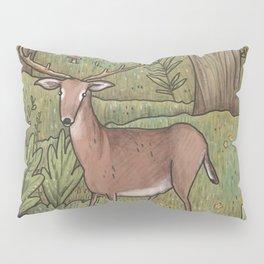 Deer in Woodland Pillow Sham