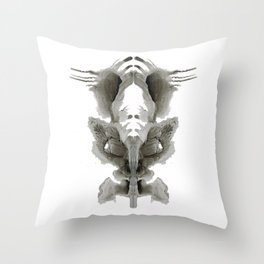 Rorschach Fish Throw Pillow