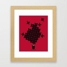 Ninja Tesselations Framed Art Print