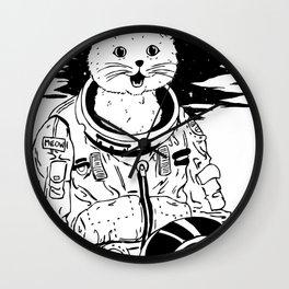 Lolcatronaut Wall Clock