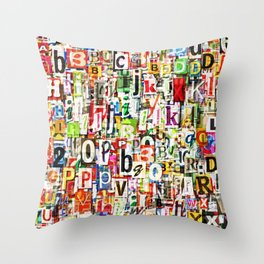 Letters Throw Pillow