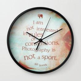 not a sport Wall Clock