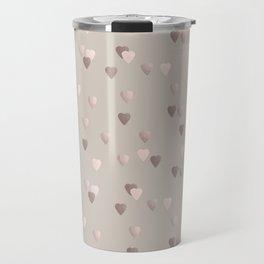 Elegant rose gold heart pattern Travel Mug