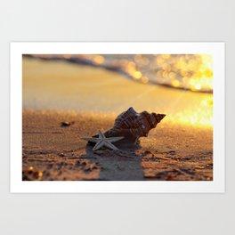 #Golden #Summer on the #Beach Art Print