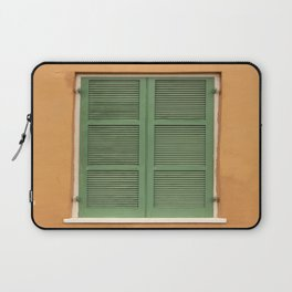 Green Shutters - Colorful Architecture in the New Orleans French Quarter Laptop Sleeve