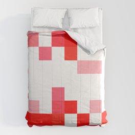 1980s Romantic Computer Pixels Comforters