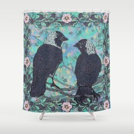 Forever Jackdaws Shower Curtain