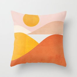 Abstraction_Mountains Throw Pillow