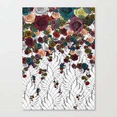 falling flowers Canvas Print