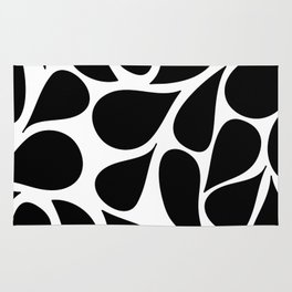 Abstract Black & White Foliage Pattern - Mix and Match with Simplicity of Life Rug
