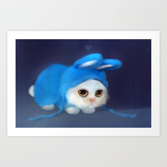 Team Bunny Art Print