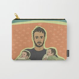 Father with Twins Carry-All Pouch