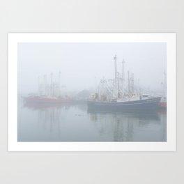 Ships in Fog Art Print