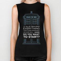 Doctor Who - TARDIS Where Do You Want to Start Biker Tank