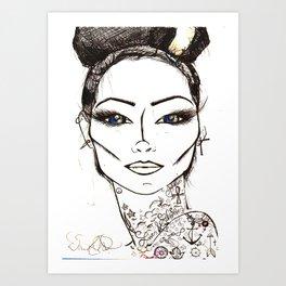 Cherri BOMB Art Print