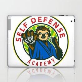 Sloth Karate Self Defense Badge Laptop & iPad Skin