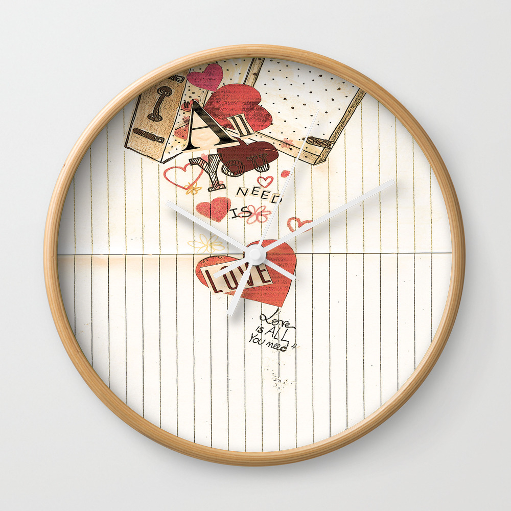 All You Need Is Love, Love Is All You Need Wall Clock by Angelcapa CLK8055433