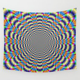 Rosette in Yellow and Blue Wall Tapestry