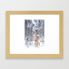 Let it Snow Christmas Framed Art Print