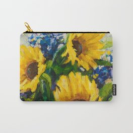 Sunflowers Oil Painting Carry-All Pouch