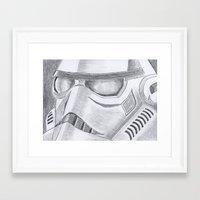 storm trooper Framed Art Prints featuring Storm trooper by Mike Hermes